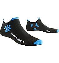 X-Socks Biking Pro Ultrashort - Calzini Corti, Black/Blue