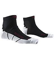 X-Socks Run Discovery - calzini running, Black/White