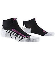 X-Socks Run Discovery - calzini running - donna, Black/White