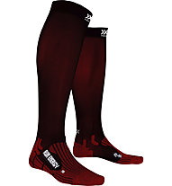 X-Socks Run Energizer - calzini lunghi running, Red/Black