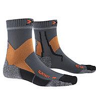 X-Socks Run Fast - calzini running, Grey/Orange