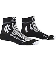 X-Socks Run Speed One - calzini running - donna, Black/White