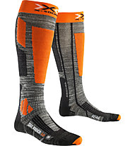 X-Socks Ski Rider 2.0 Skisocken, Grey/Orange
