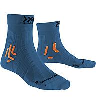 X-Socks Trail Run Energy - calzini running, Blue/Orange/Black