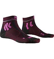 X-Socks Trail Run Energy - Trailrunningsocken - Damen, Dark Red/Black/Pink