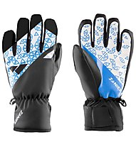 Zanier Sillian STX - guanti da sci - ragazzo, Black/Light Blue