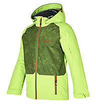 Ziener Afelix - giacca da sci - bambino, Green/Orange