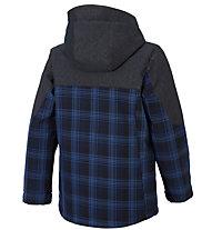 Ziener Aikimo Kinder-Skijacke, Blue Navy/Check