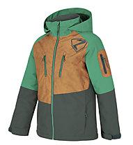 Ziener Anoah - giacca sci - bambino, Brown/Dark Green