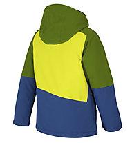 Ziener Anoah - giacca sci - bambino, Green/Blue