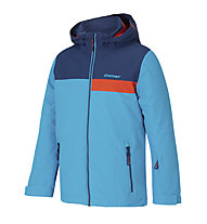 Ziener Apli - Skijacke - Kinder, Light Blue/Orange