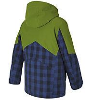 Ziener Avan - giacca da sci - bambino, Blue/Green