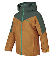 Ziener Avan - giacca da sci - bambino, Light Brown/Green
