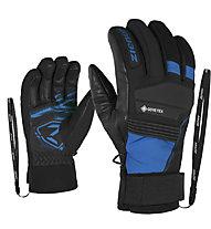 Ziener Gil GTX + GORE Active - guanti da sci - uomo, Black/Light Blue