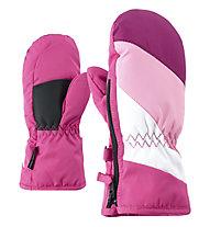 Ziener Lesportivo AS Minis - moffole da sci - bambino, Pink