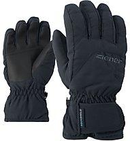 Ziener Lizzard AS - guanti da sci - bambino, Black