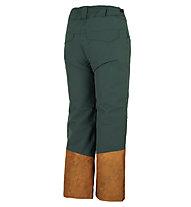 Ziener Ayules - pantaloni da sci - bambino, Green/Brown