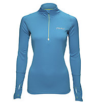 Zoot Microlite+ 1/2 Zip maglia running donna, Light Blue/Grey